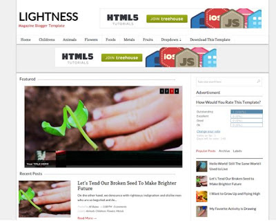 Lightness Magazine blogger template