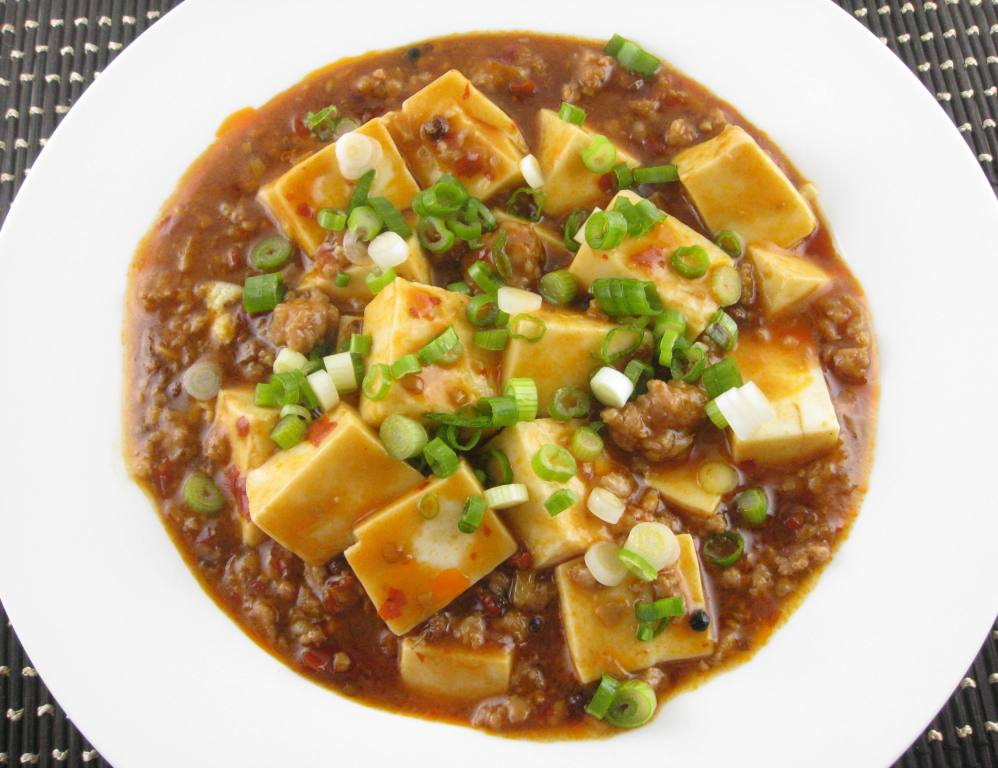 spicy tofu with beef and sichuan peppercorn recipe dishmaps spicy tofu ...
