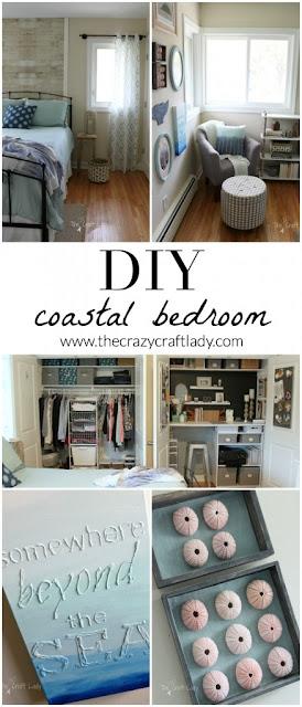 coastal inspired bedroom makeover