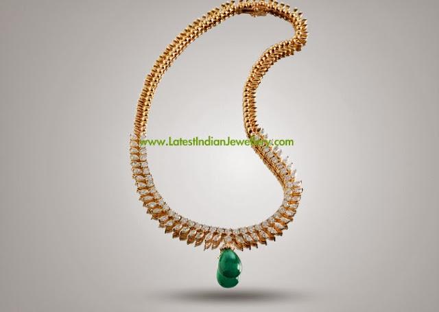 Simple Elegant Diamond Necklace