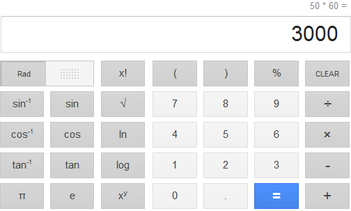 Google Search Calculator Tool