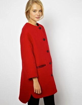 Sale item of the week: ASOS Collarless button front coat