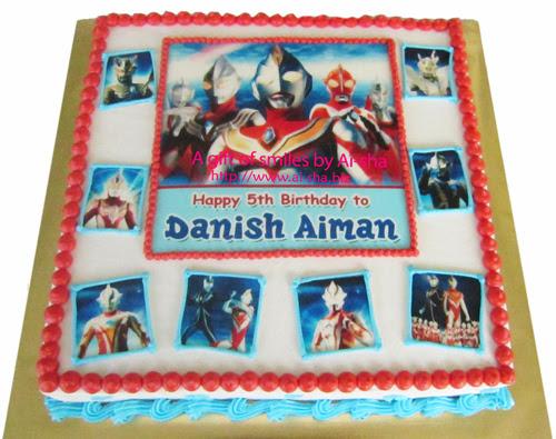Birthday Cake Edible Image Ultraman Ai-sha Puchong Jaya