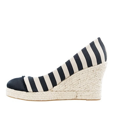 Labels J Crew stripes wedges