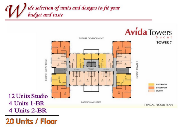 Avida Towers Sucat Floor Plan
