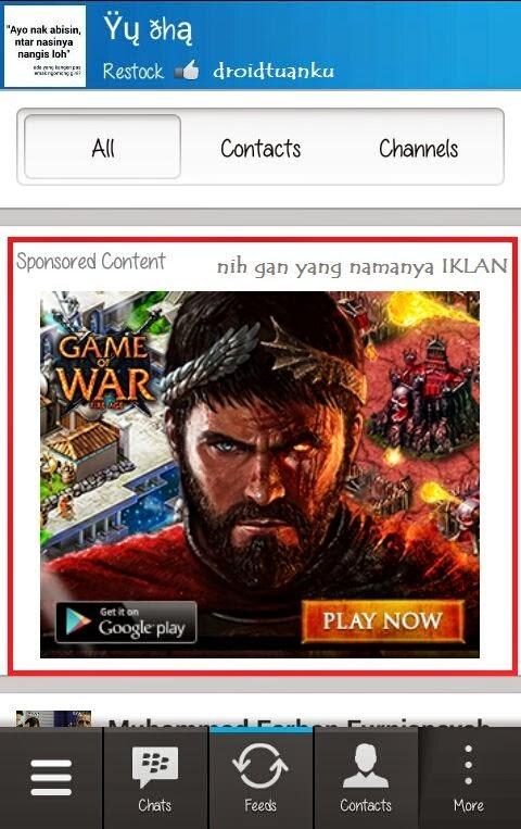 Iklan Aplikasi BBM Android