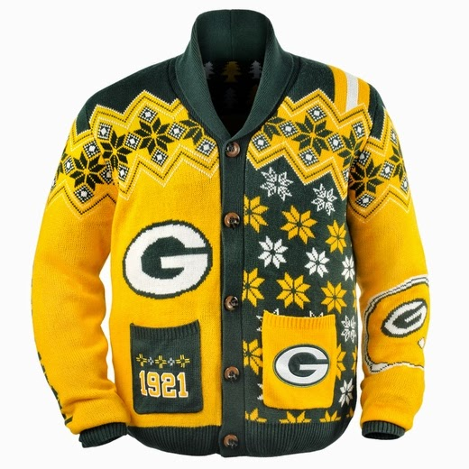 Green Bay Packers NFL Ugly Sweater Cardigan