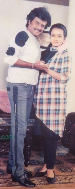 Rajinikanth & Amala in 'Velaikaran' (1987) Tamil Movie 2