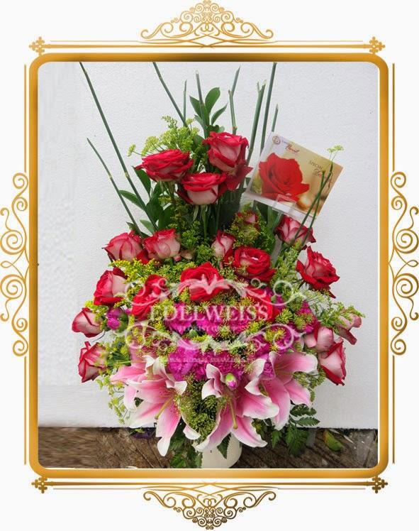 mawar merah elegant