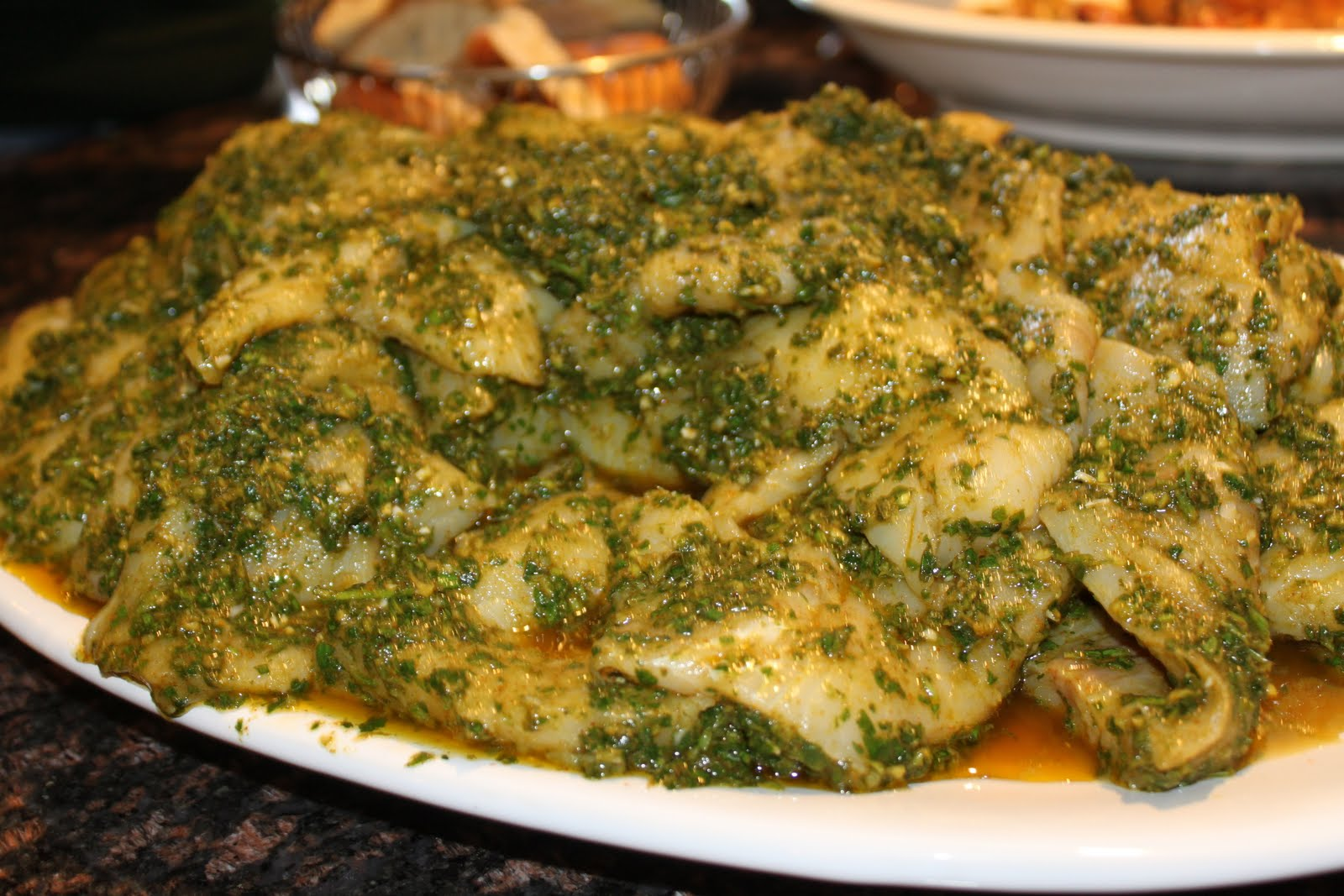 A yummy substitute for maccas fish tagine with chermoula for Substitute for fish food