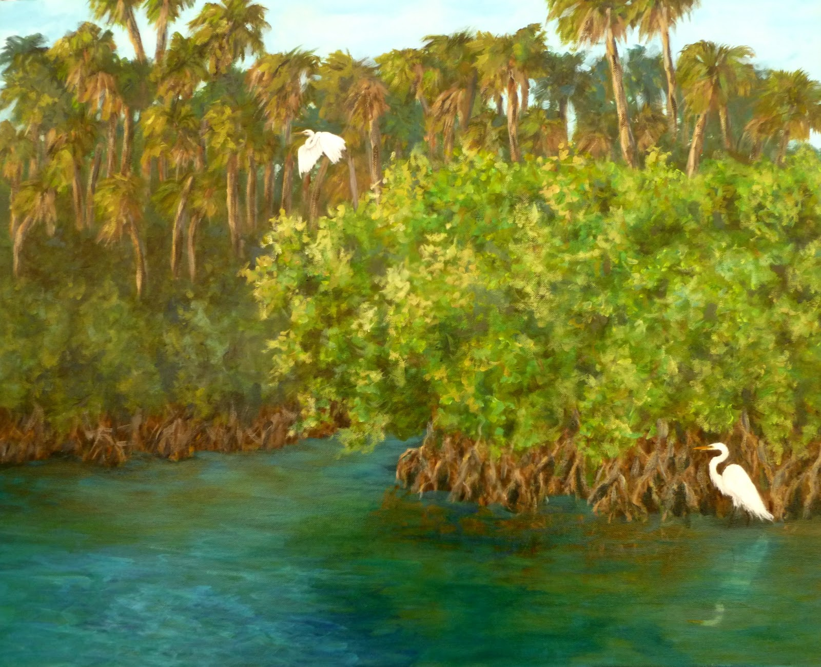 Nature Paintings Coastal Fine Art Paintings By Amber
