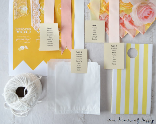 DIY wedding, DIY favours, DIY seating chart