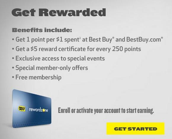 www. MyRewardZone.com : Best Buy My Reward Zone