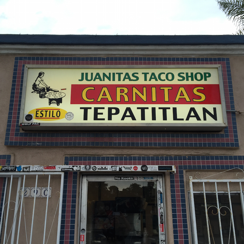 Juanita's Taco Shop in Encinitas, CA (near San Diego)