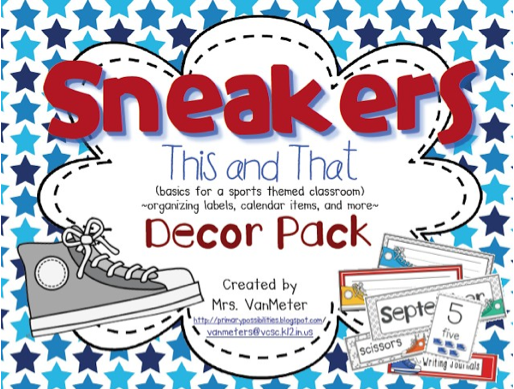 http://www.teacherspayteachers.com/Product/Sneakers-This-and-That-Classroom-Theme-and-Decor-748361