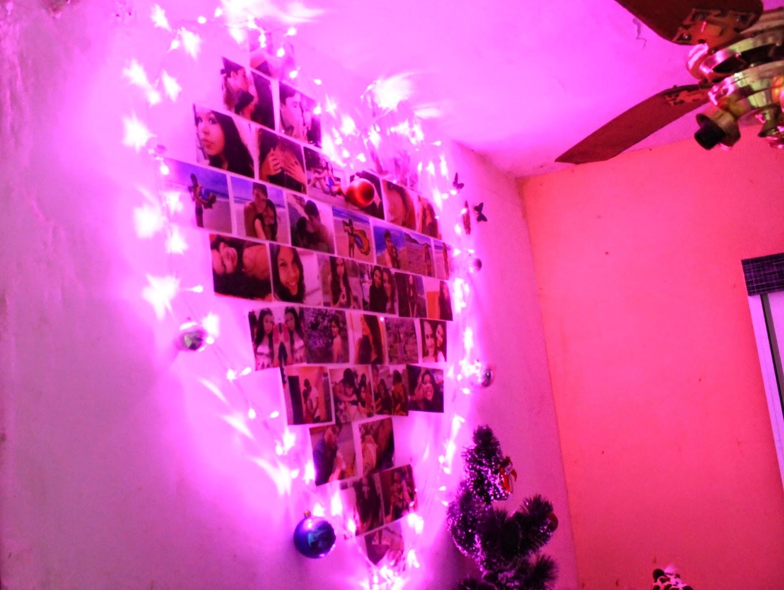 decoração barata para natal, pisca-pisca, decorando quarto no natal