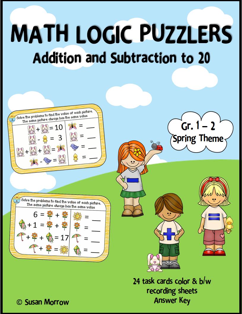 https://www.teacherspayteachers.com/Product/Addition-and-Subtraction-Algebraic-Thinking-Math-Puzzlers-Gr-1-2-1180260