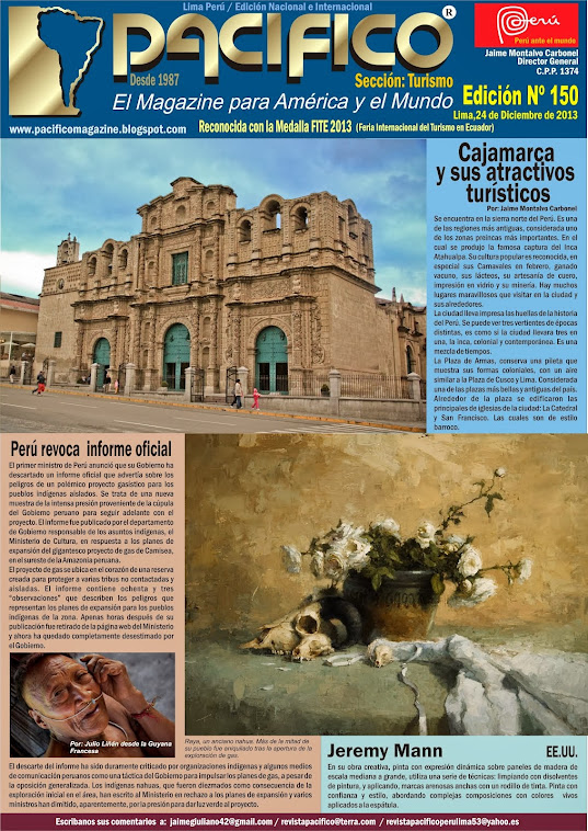 Revista Pacífico Nº 150 Turismo