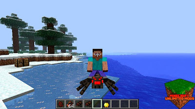 Rideable Spiders Mod