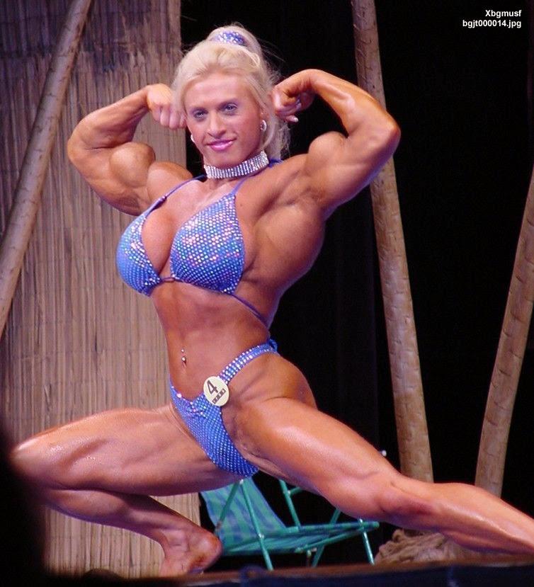 image Mature female bodybuilders wrestle nude