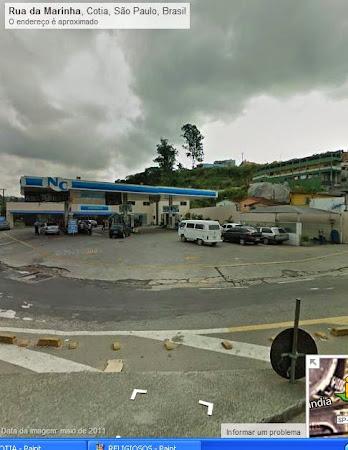 Existia um outro posto de gasolina nesse local