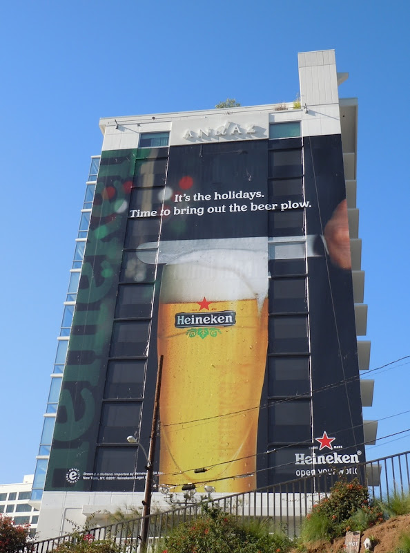 Giant Heineken Holidays beer billboard