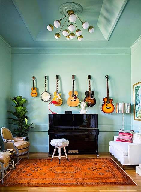 decoration guitare guitariste musique idees