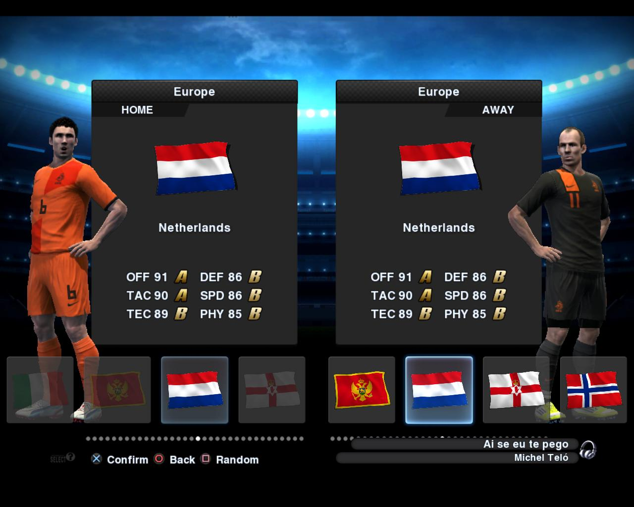 Holanda 2012/13 Kitset - PES 2013