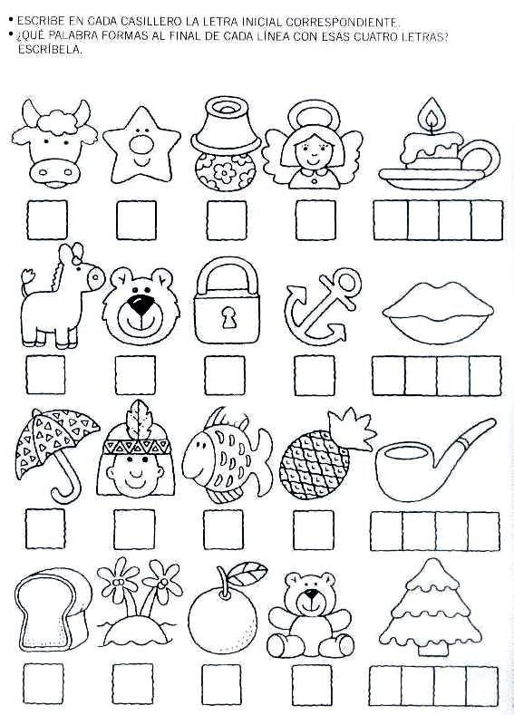 Crucigrama para niños de kinder - Imagui