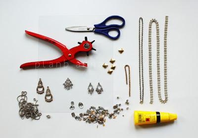 Hacer una gargantilla con pendientes en Recicla Inventa