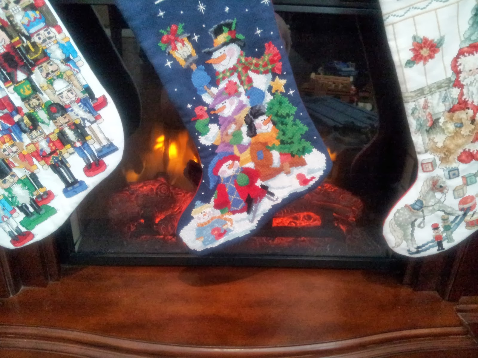 cross-stitch, embroidery, kids, fireplace, tradition,