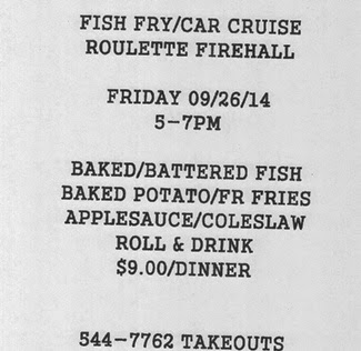 9-26 Fish Fry/Car Cruise Roulette