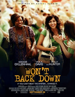 wont back down poster Maggie Gyllenhaal and Viola Davis Star in Wont Back Down Movie About Failing Schools