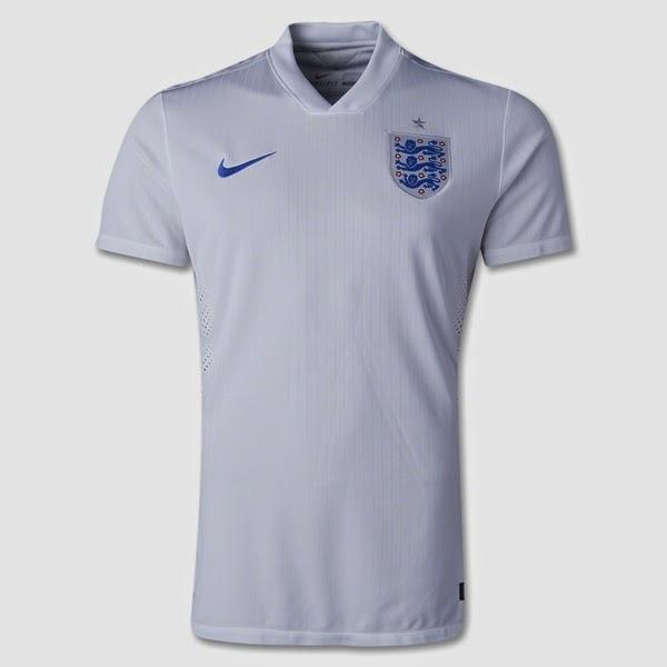 Jersey Negara Inggris - Piala Dunia 2014