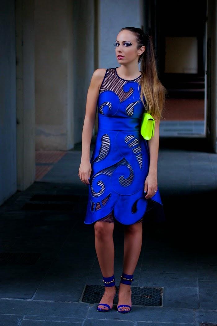 sandali gucci blu elettrico