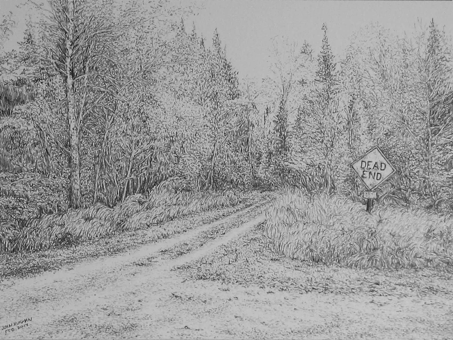 Pencil, drawing, John, Huisman, ely. mn, minnesota, huismanconcepts.com
