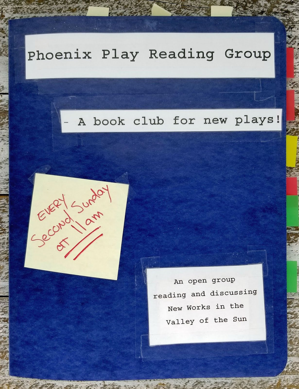Phoenix Play Reading Group presents