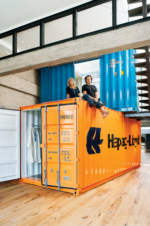 San francisco shipping container conex box home in an artist 39 s loft - Box container homes ...