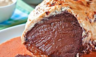 Carne assada com maionese light