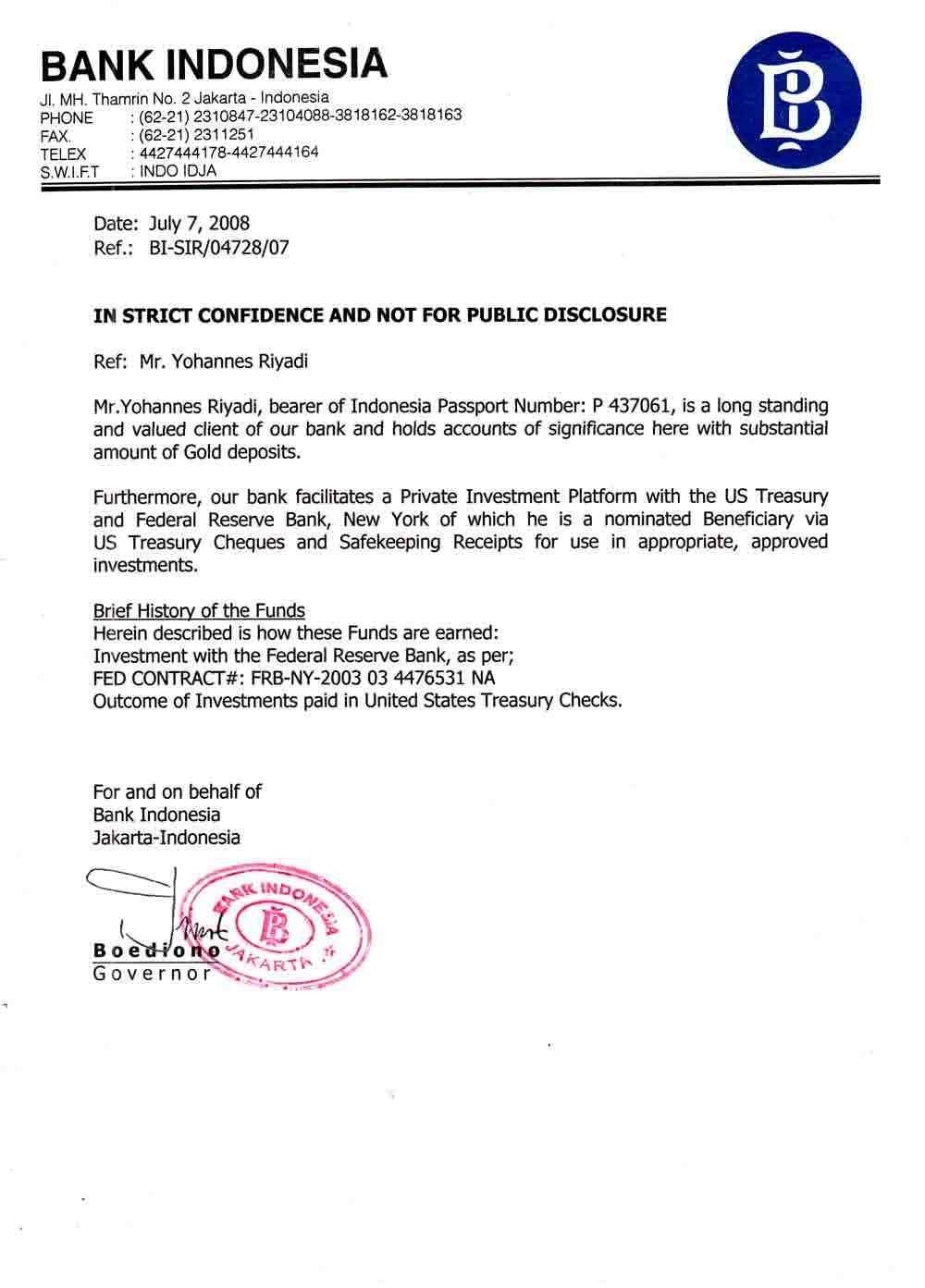 Offering Letter Bank Mandiri