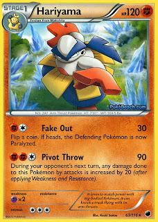 Hariyama Plasma Freeze Pokemon Card