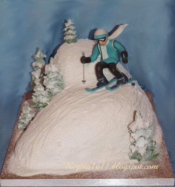 торт для лыжника фото