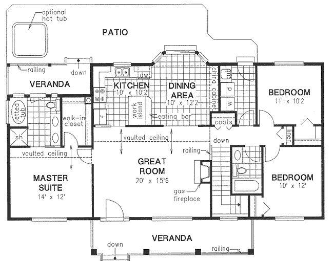 Plano De Casa 130 Metros Cuadrados Estilo Caba A Campestre