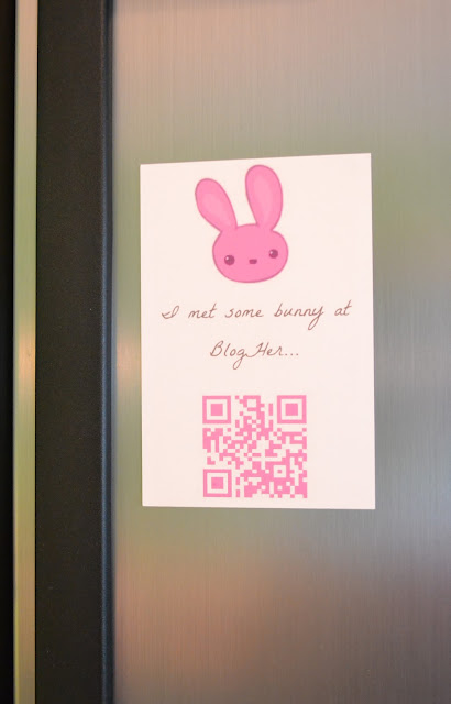 magnets, blogher, swag, bunny swag