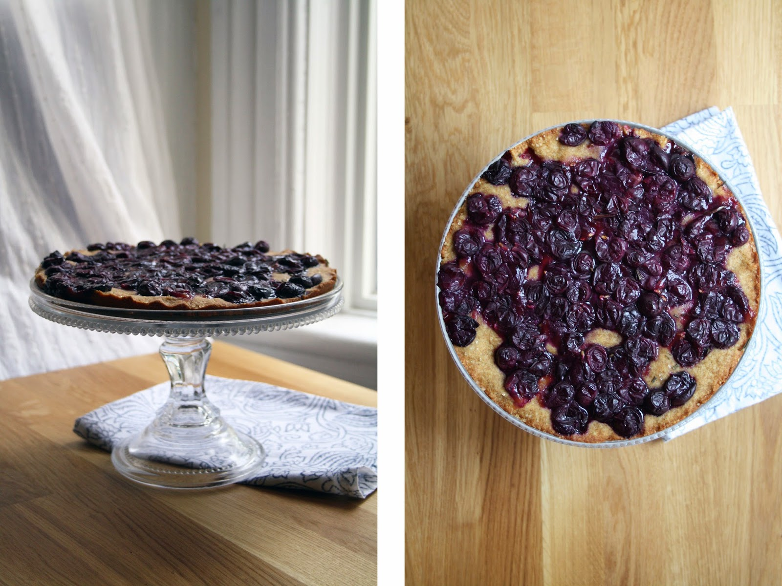 a concord grape tart with rosemary + ginger // sevengrams