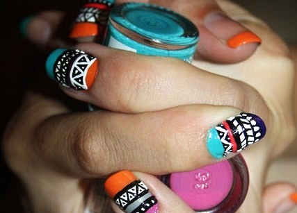 Are you in the hot ass nail tribe? Peep the orange french in the background