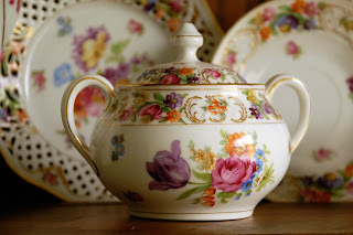 Schumann Bavaria china sugar bowl