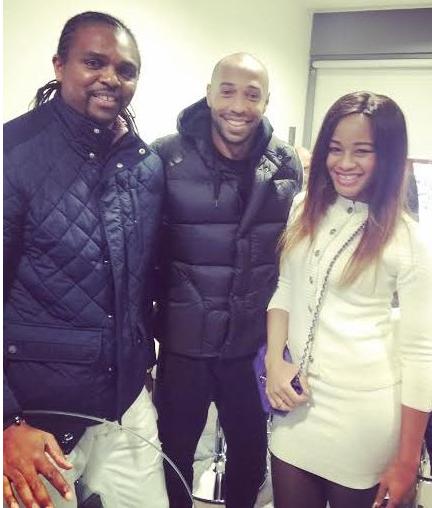Amara & Kanu Nwankwo With Thierry Henry (Photo)