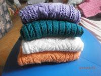 Kötött pulóverek patent részinek mintái
