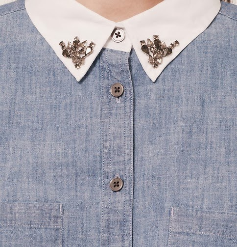 Chambray top is the latest style